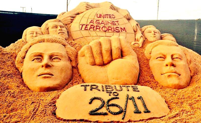 Sudarsan Pattnaik's recent sand art on 26/11 Terror Attacks