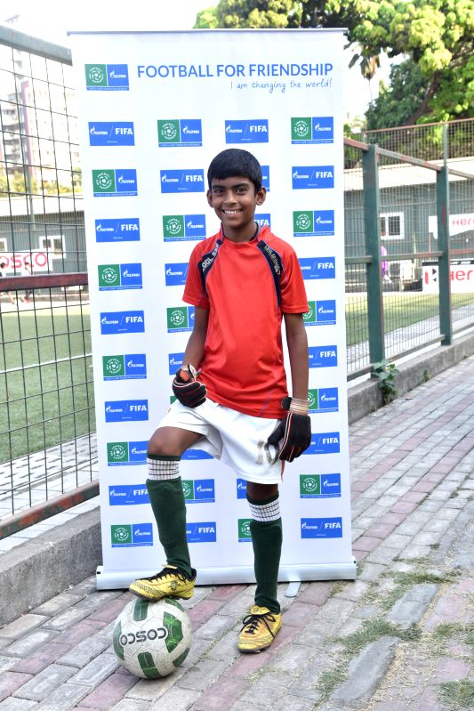 Sujal Kahar, a 12-year-old footballer from Mumbai, who has been shortlisted as Indias representative at the global Football For Friendship (F4F) social programme.