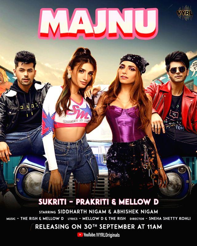 Sukriti, Prakriti Kakar all set to drop latest track 'Majnu'.