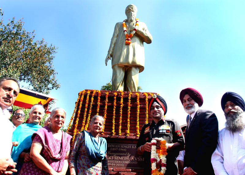 Sultanpur Lodhi: The Army Commander Western Command General K J Singh, AVSM during a programme organised to inaugurate a park named after veteran freedom fighter Shaheed Dr. Diwan Singh Kalepani at ...