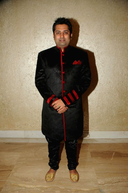 Sumeet Tappoo during Anup Jalota`s 56th birthday celebrations in Mumbai on July 29, 2014.