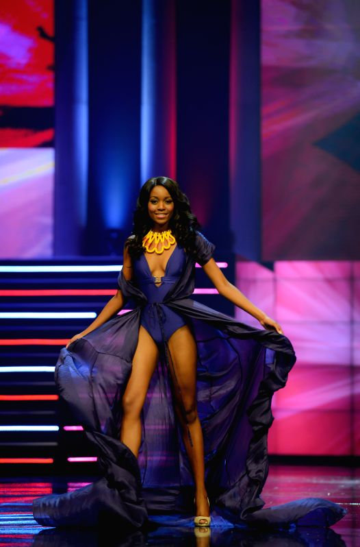 The First Princess Refilwe Mthimunye catwalks during the Miss South Africa 2015 Pageant and Celebration in Sun City, South Africa, on March 29, 2015. The Miss ...