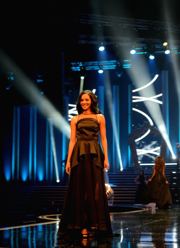 The First Prize Winner Liesl Laurie catwalks during the Miss South Africa 2015 Pageant and Celebration in Sun City, South Africa, on March 29, 2015. The Miss ...