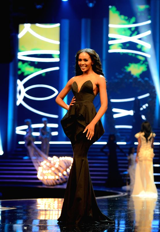 The Second Princess Ntsiki Mkhize catwalks during the Miss South Africa 2015 Pageant and Celebration in Sun City, South Africa, on March 29, 2015. The Miss South ...