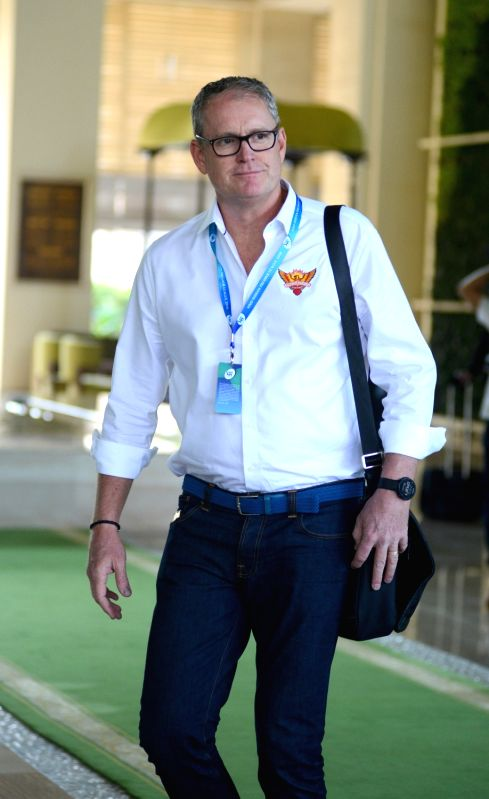 Sunrisers Hyderabad coach Tom Moody arrives to attend Indian Premier League (IPL) Players' Auction in Bengaluru on Jan 28, 2018.