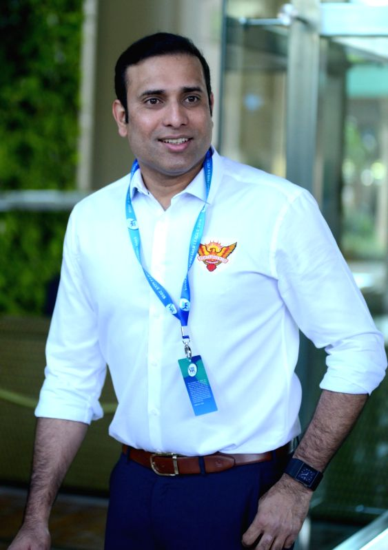 Sunrisers Hyderabad mentor V. V. S. Laxman arrives to attend Indian Premier League (IPL) Players' Auction in Bengaluru on Jan 28, 2018.