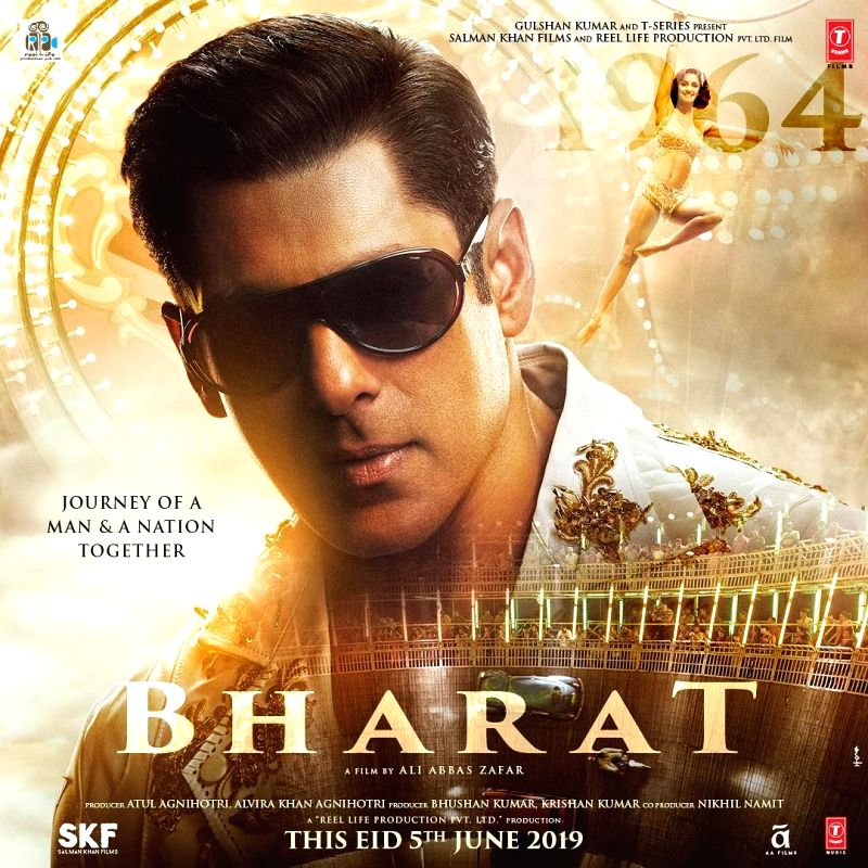 """Superstar Salman Khan's latest poster from the forthcoming film """"Bharat"""" is reminiscent of his looks in the 1990s. A day after he shared his grey hair and bearded avatar from """"Bharat"""", Salman on Tuesday shared a new poster featuring him in"""