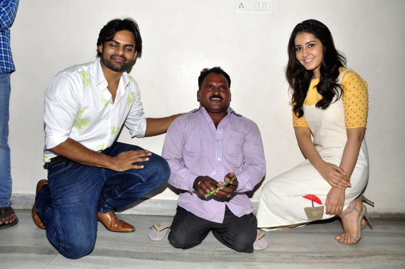 Supreme movie team special show for differently abled in Hyderabad.