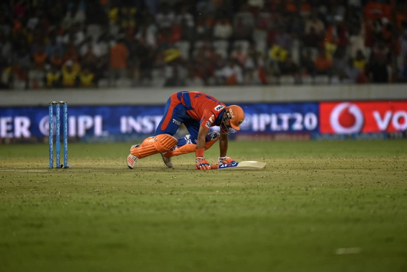 Suresh Raina of Gujarat Lions during an IPL match between Sunrisers Hyderabad and Gujarat Lions at Rajiv Gandhi International Stadium in Hyderabad on May 6, 2016.