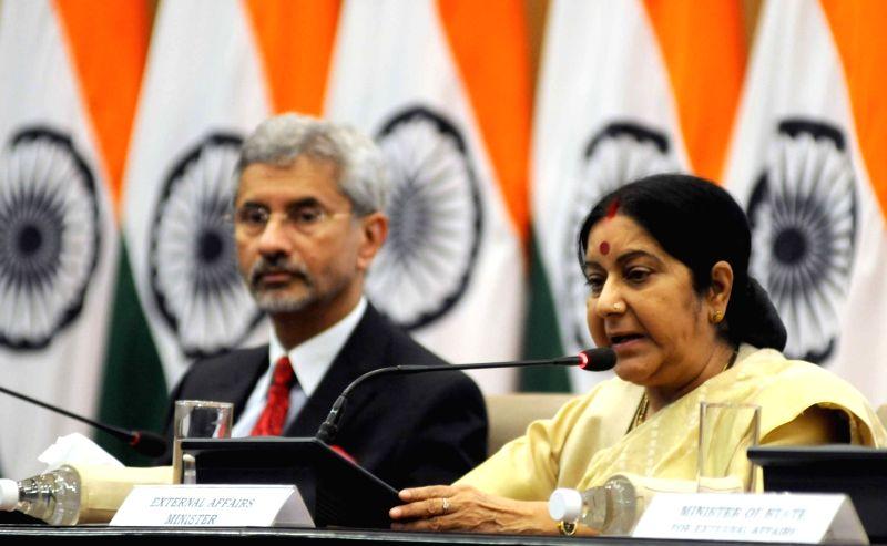 Sushma Swaraj and S Jaishankar.