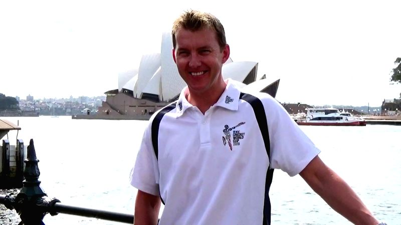 Former Australian cricketer Brett Lee during an ICC World Cup 2015 ​programme organised at the Sydney Opera House in Sydney, Australia on March 24, 2015.