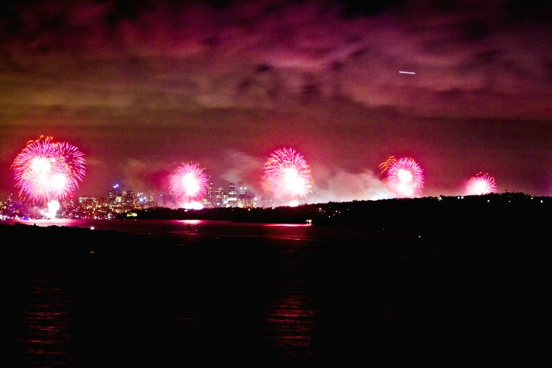 Fireworks were set off to mark the New Year's Day of 2015 in Sydney, Australia, on Jan. 1, 2015. About 1.5 million citizens and tourists went to Sydney's major scenic