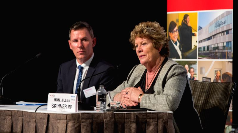 SYDNEY, July 26, 2016 - New South Wales (NSW) state Minister for Health Jillian Skinner (R) answers to media during a press conference in Sydney, Australia, July 26, 2016. Health authorities are ...