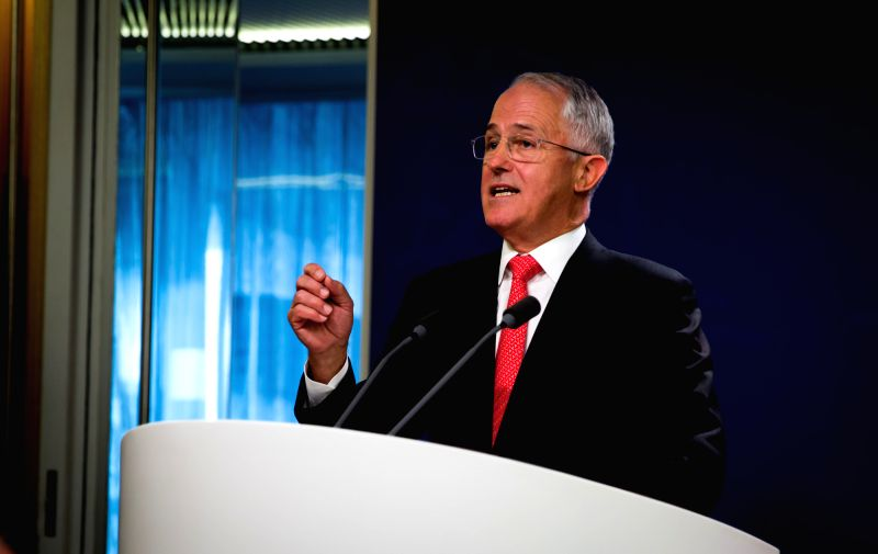 SYDNEY, May 6, 2016 - Australian Prime Minister Malcolm Turnbull speaks during a press conference in Sydney, Australia, May 6, 2016. A deepening Australia-Singapore relationship is not about ... - Malcolm Turnbull