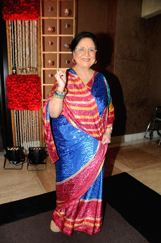 Tabassum during Anup Jalota`s 56th birthday celebrations in Mumbai on July 29, 2014.