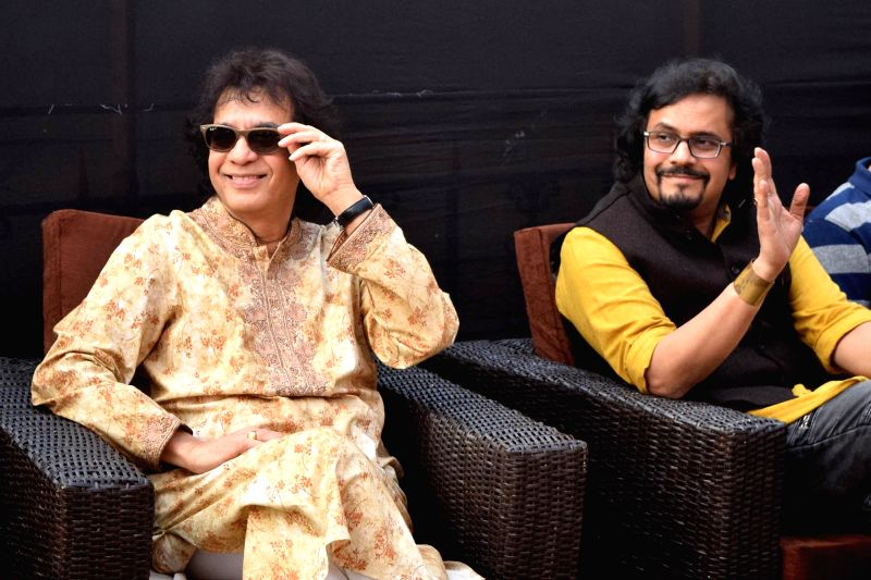 Tabla maestro Zakir Hussain during Tata Literally Meet in Kolkata, on Jan 24, 2018.