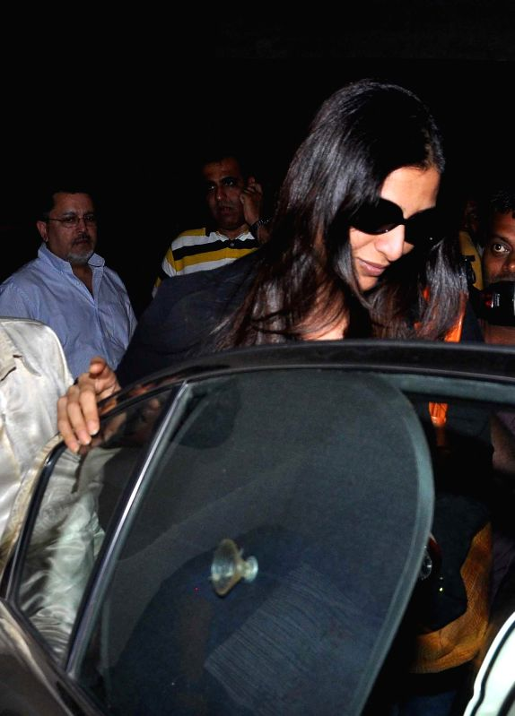 Tabu during the special screening of film Humshakal at Lightbox in Mumbai on Thursday, June 19, 2014.