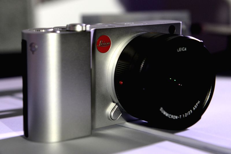 A brand-new Leica T camera is seen at a release ceremony in Taipei, southeast China's Taiwan, April 30, 2014. German camera manufacturer Leica released its latest T
