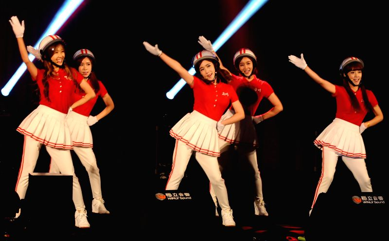"South Korean girl group ""Crayon Pop"" performs at a fan meeting in the Taipei International Convention Center in Taipei, southeast China's Taiwan, Aug. 24, ."