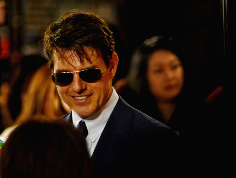 "TAIPEI, May 26, 2017 - Actor Tom Cruise attends a premiere ceremony of the film ""The Mummy"" in Taipei, southeast China's Taiwan, May 25, 2017. - Tom Cruise"