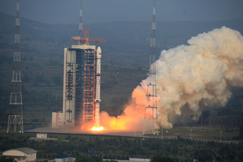 TAIYUAN, Aug. 10, 2016 - A Long March 4C rocket carrying a new high-resolution Synthetic Aperture Radar (SAR) imaging satellite blasts off at the Taiyuan Satellite Launch Center in Taiyuan, capital ...