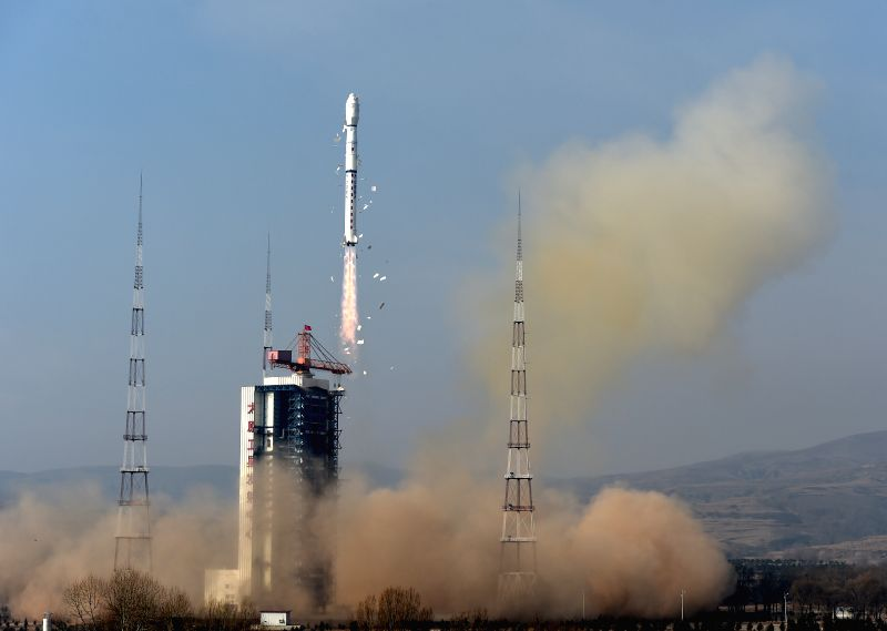 A Long March-4B rocket carrying the Yaogan-26 remote sensing satellite blasts off from the launch pad at the Taiyuan Satellite Launch Center in Taiyuan, capital of .