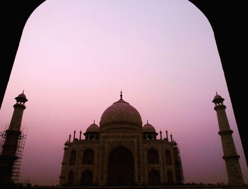 Taj in Silhouette