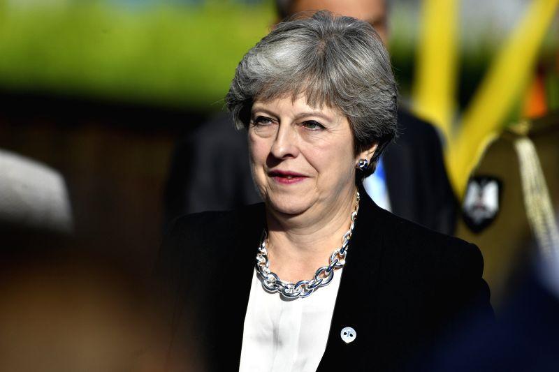 ESTONIA-TALLINN-EU-DIGITAL SUMMIT - Theresa May