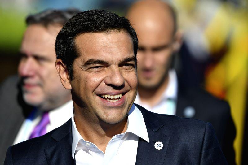 TALLINN, Sept. 29, 2017 - Greek Prime Minister Alexis Tsipras arrives for the Tallinn Digital Summit in Tallinn, Estonia, Sept. 29, 2017. Organized by the Estonian presidency of the Council of the ... - Alexis Tsipras
