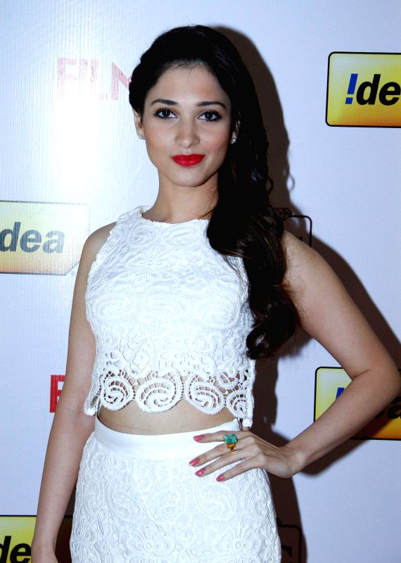 Tamannaah at the `61st Idea Filmfare South Awards 2013` held in Chennai at Nehru Stadium.