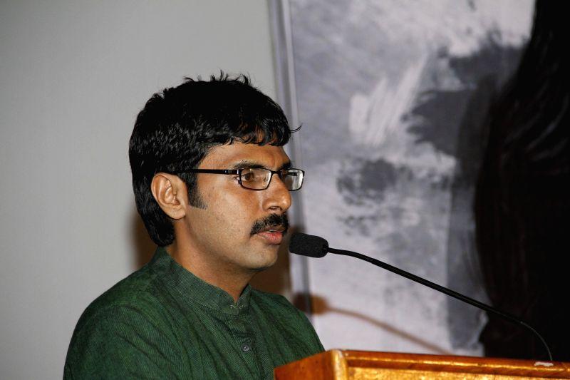 Tamil movie `Sarabham` press meet.