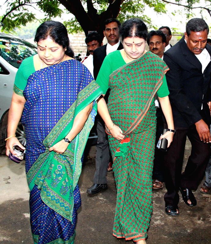 jayalalithaa s son and friends appear before a city civil court   j