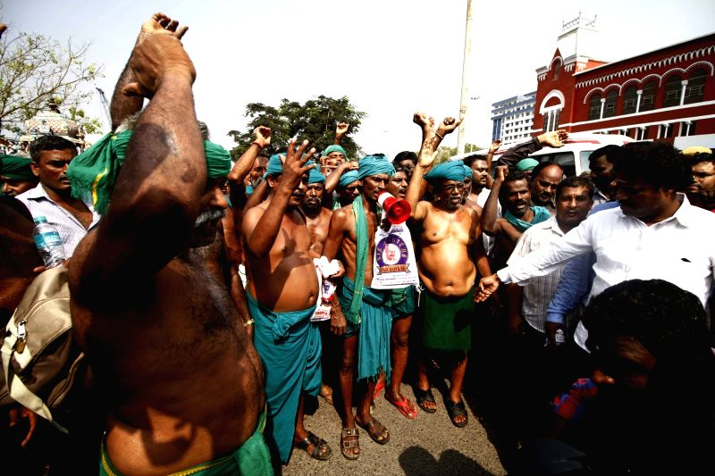 Tamil Nadu farmers who staged a demonstration for over 40 days at Delhi's Jantar Mantar to demands loan waivers, drought relief packages and formation of a Cauvery management board to ...