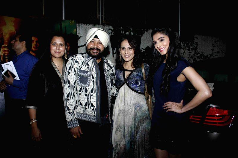 Taranpreet Kaur Mehndi, her husband and singer Daler Mehndi, filmmaker Meera Ali and Pernia Qureshi during the screening of film Jaanisaar in Mumbai, on August 6, 2015. - Taranpreet Kaur Mehndi