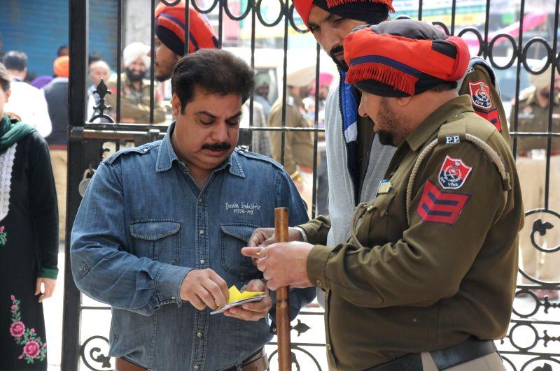 Tarn Taran: People arrive to cast their votes at a polling booth during Punjab civic body polls in Tarn Taran near Amritsar, on Feb 25, 2015.