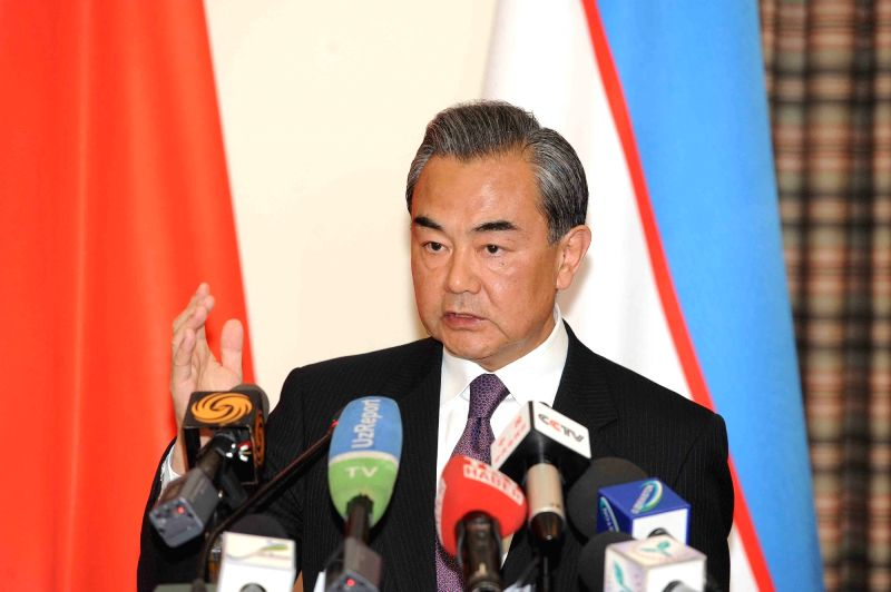 TASHKENT, May 24, 2016 - Chinese Foreign Minister Wang Yi addresses reporters after attending a meeting of the Shanghai Cooperation Organization (SCO) foreign ministers in the capital of Uzbekistan ... - Wang Y