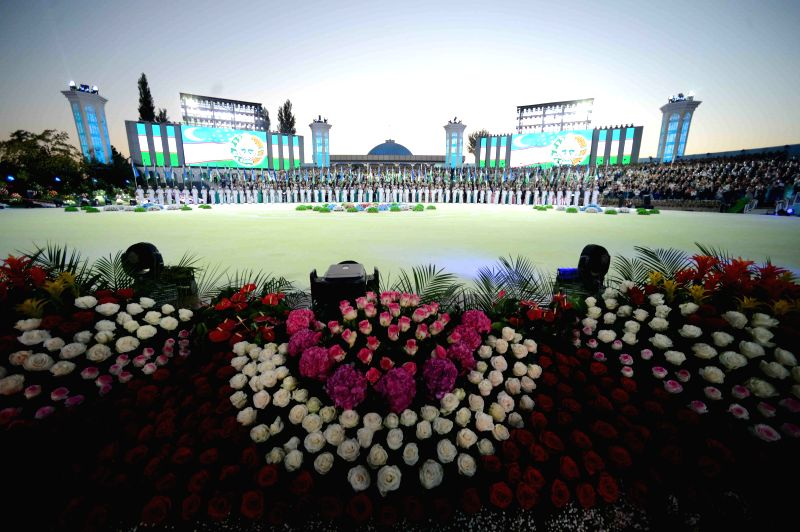 People attend the Independence Day celebration in Tashkent, capital of Uzbekistan, on Aug. 31, 2014. Uzbekistan celebrated its 23rd Independence Day Sunday. ...