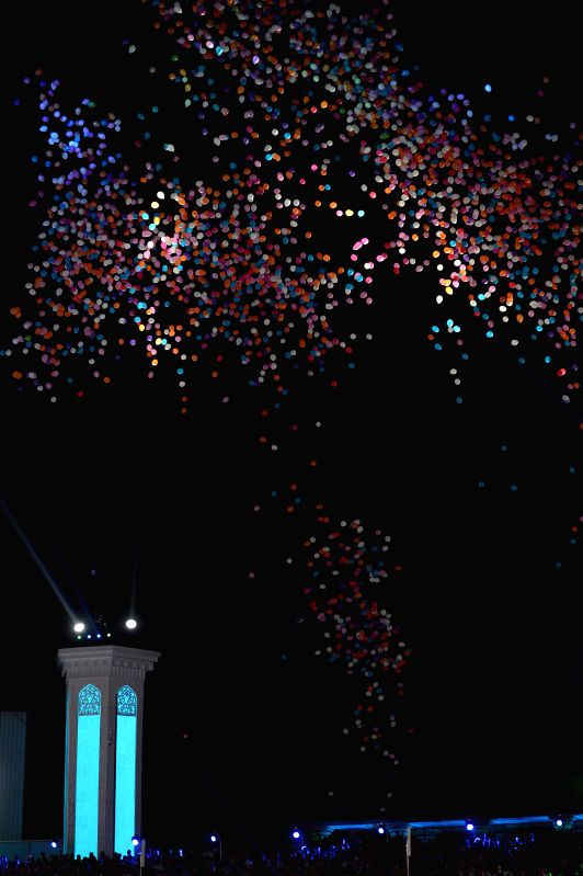 People release balloons during the Independence Day celebration in Tashkent, capital of Uzbekistan, on Aug. 31, 2014. Uzbekistan celebrated its 23rd Independence ..