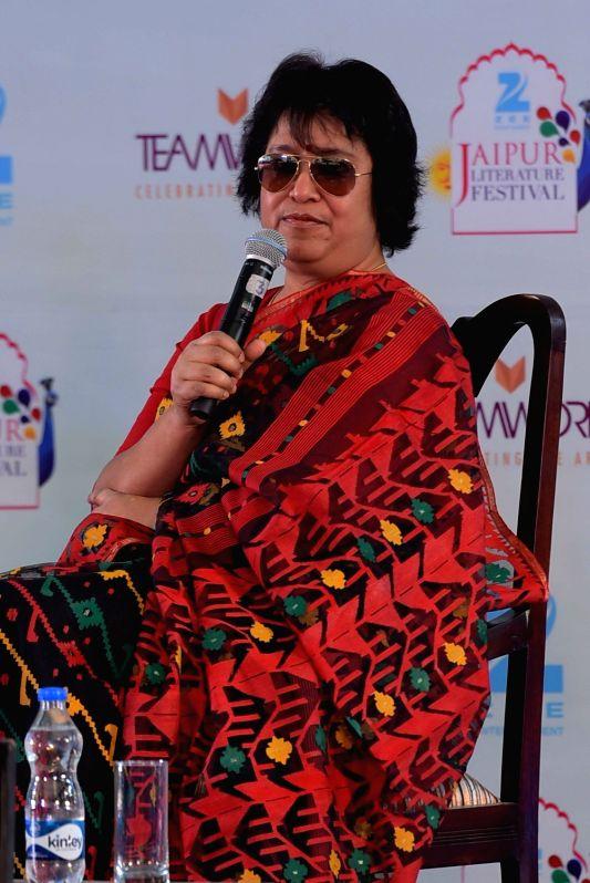 Taslima Nasrin. (Photo: Ravi Shankar Vyas/IANS)