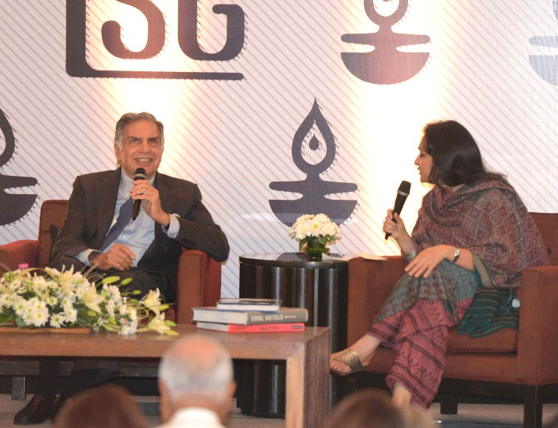 Tata group Chairman Emeritus Ratan Tata during an interactive session organised in Kolkata on Aug 6, 2014.