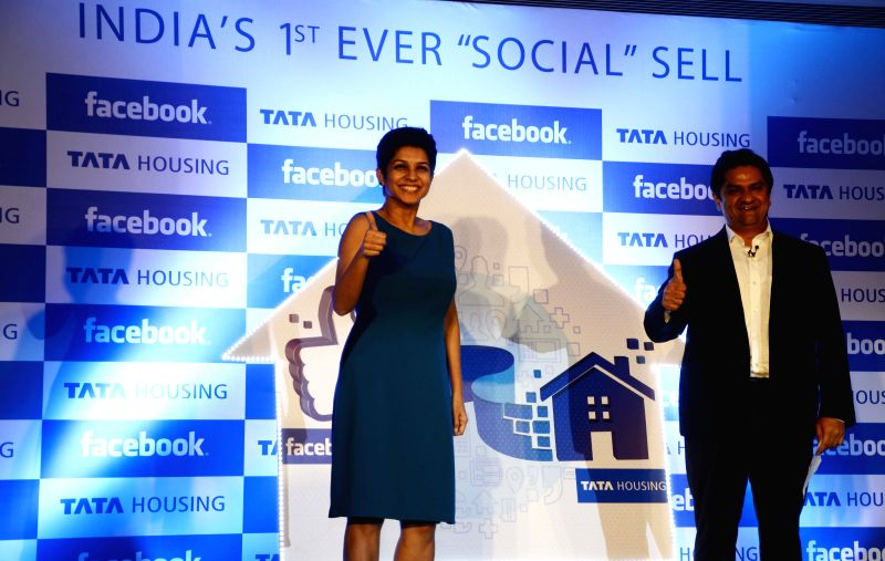 Tata Housing Development Company CEO and MD Brotin Banerjee and Facebook India, managing director, Kirthiga Reddy during the inauguration of Tata Housing and Facebook`s campaign `Social Sell` ... - Brotin Banerjee and Kirthiga Reddy