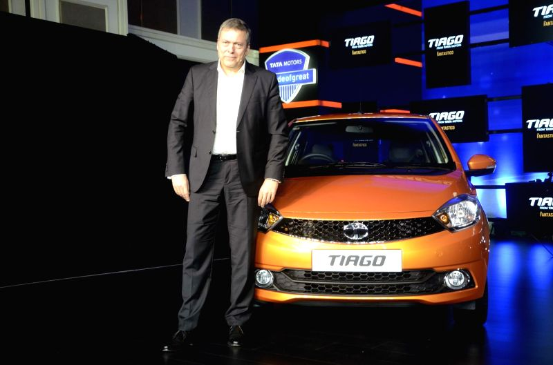 Tata Motors CEO and managing director Guenter Butschek during the launch of the new compact hatchback Tiago in Mumbai on April 6, 2016. - Guenter Butschek
