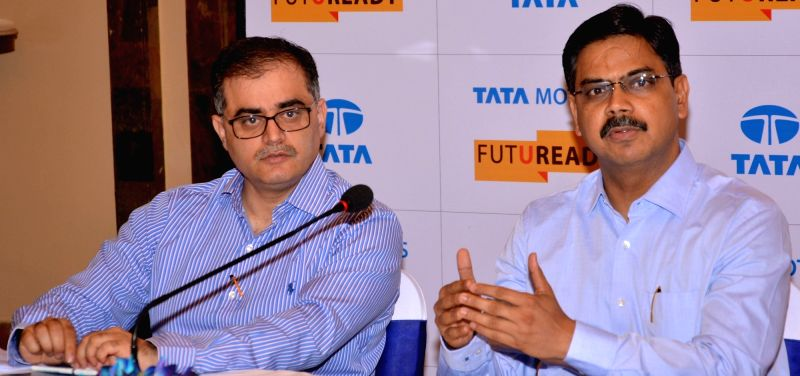 Tata Motors Heavy Commercial Vehicles Head (Sales & Marketing Medium) and Medium and Heavy Commercial Viehicles Girish Wagh during Tata Motors Round Table Meet in Kolkata, on May 12, ...