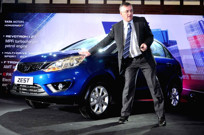 Tata Motors official John O Connor at the launch of `Zest` in Kolkata on Aug 19, 2014.