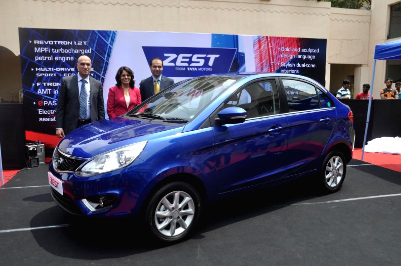 Tata Motors official Ranjit Yadav at the launch of `Zest` in Hyderabad on Aug 22, 2014. - Ranjit Yadav