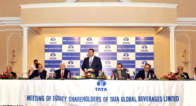 Tata Sons Chairman, Cyrus P Mistry addresses during  Tata Global Beverages' 51st Annual General Meeting in Kolkata on Aug 26, 2014.