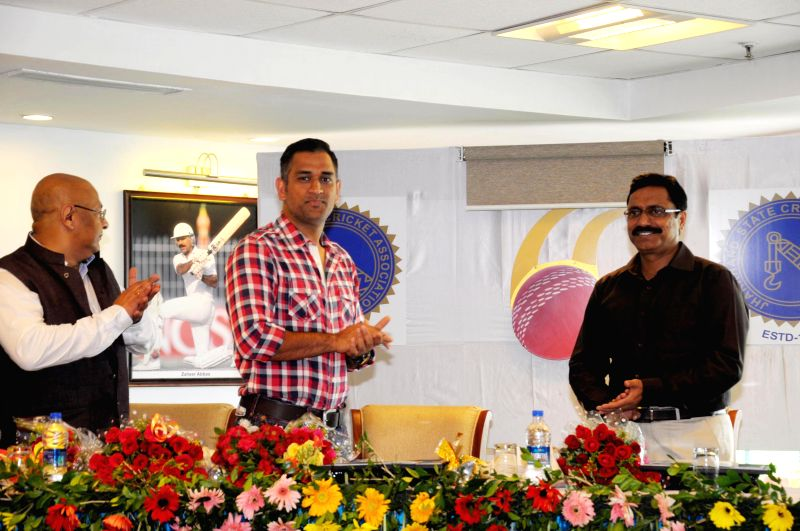 Team India skipper and local iconic figure Mahendra Singh Dhoni at the inauguration of the posh Country Cricket Club at the Jharkhand State International Cricket Stadium at Dhurva, Ranchi on June 21,