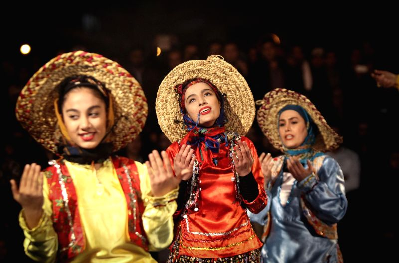 Iranian actresses wearing costume perform during the 33rd Fajdr International Theater Festival in downtown Tehran, Iran, on Jan. 28, 2015. Iran holds the Fajdr ...