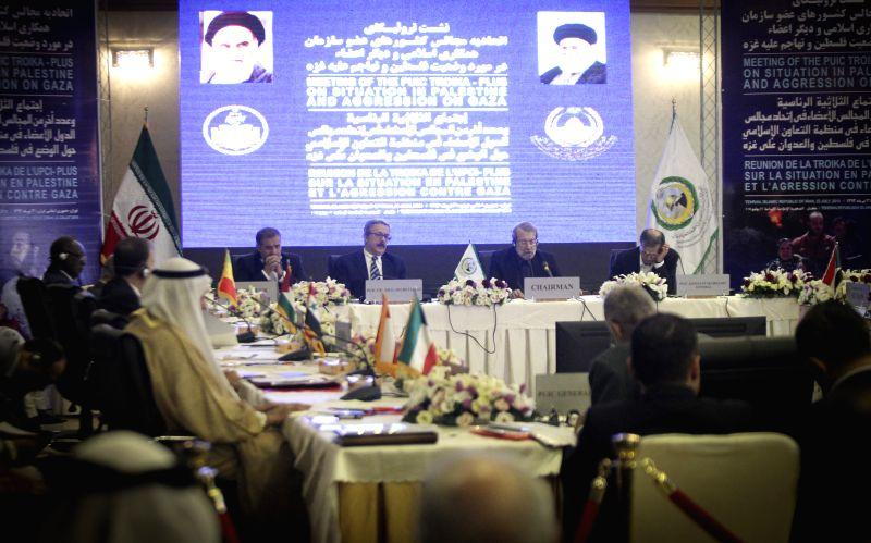 Participants attend the meeting of the Parliamentary Union of the Organization of the Islamic Council Member States in Tehran, Iran, July 22, 2014. Participants ...