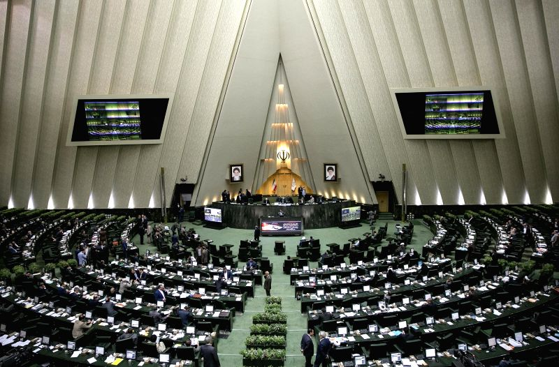 TEHRAN, June 7, 2017 - Photo taken on May 31, 2017 shows Iranian lawmakers attend Iranian Majlis (parliament) in Tehran, Iran. Shooting inside the Majlis (parliament) of Iran on Wednesday morning has ...